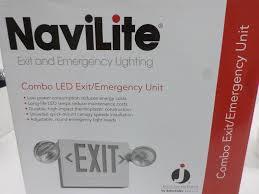 unit equipment emergency lighting juno navilite nxpc3rwhho 120 277vac combo led exit emergency light