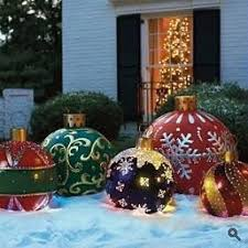 Christmas Lights Ornaments Outdoor by 23 Best Outdoor Christmas Decorations Images On Pinterest