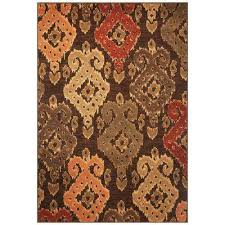 Ikat Area Rug Ikat Brown Area Rugs Rugs The Home Depot