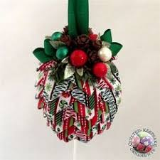 how to make a folded fabric pine cone ornament diy quilted