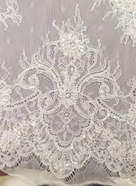 wedding dress fabric luxury bridal dress lace material 3yards pc embroidery sequins
