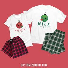 christmas hers matching christmas pajamas for the whole family customizedgirl