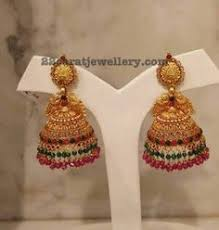 gold earrings jhumka design gold jhumka designs with weight and price jewellery