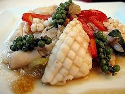 comment cuisiner calamar frais calamar sauté au poivre vert cuisine de la mer