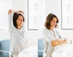 Yoga At The Office Desk Office Yoga Sequence Elena Brower