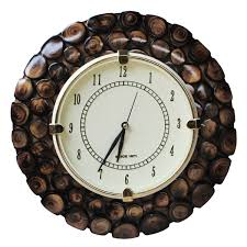 Wooden Wall Clock by Wholesale Hand Carved 7 3 U201d Round Brown Wooden Wall Clock With Wood
