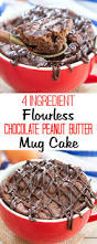 4 ingredient chocolate peanut butter mug cake recipe flourless