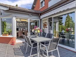 modern house for sale in evian heated veranda fireplace terrace