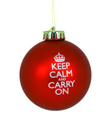 christmas ornaments keep calm and carry on christmas ornaments