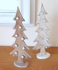 tree decorations wooden trees shabby