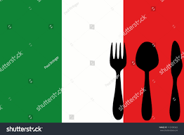 Italy Flag Images Fork Spoon Knife Isolated On Italy Stock Vector 113190583