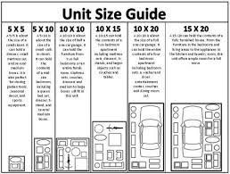 sizes of storage units roanoke decoration