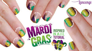 easy nail art for beginners 27 cute mardi gras polish designs