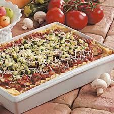 mushroom zucchini lasagna recipe taste of home