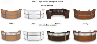 Reception Station Desk Reception Stations In 4 Sizes Colors