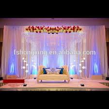 wedding event backdrop acrylic clear mandap pillar as the wedding event backdrop