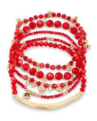 red bead bracelet images Supak beaded bracelet set in red pearl kendra scott jpg