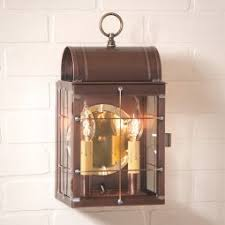 Colonial Outdoor Lighting Colonial Brass Copper Outdoor Lighting Irvins Tinware