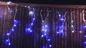 premier blue white led snowing icicle lights