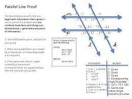 Same Side Interior Angles Postulate Parallel Line Proof Parallel Line Proof The Idea Behind A Proof