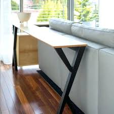 console table behind sofa diy pallet sofa table behind the couch table medium size of console