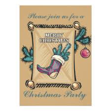 Cowboy Christmas Party Invitations - dec 25 invitations u0026 announcements zazzle