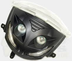 audi headlights in dark piaggio zip audi style headlight pedparts uk