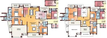 Pent House Floor Plan by 6 Bhk 8580 Sq Ft Penthouse For Sale In Parsvnath Exotica At Rs