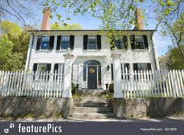 historical architecture old colonial house stock picture