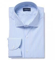 thomas mason light blue end on end stripe dress shirt by proper cloth