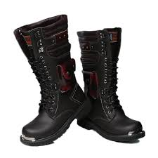 men s tall motorcycle riding boots 2015 martin boots men leather punk rock cool high cut fashion army