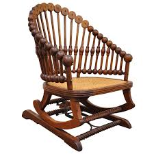 Country Song Rocking Chair 1880s George Hunzinger Victorian Platform Lollipop Rocker Or