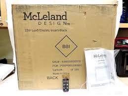 mcleland design 23 u2033 lux5 electric fireplace insert u2013 black reviews