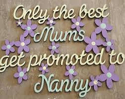 mothers day gift for nanny promoted to nanny etsy