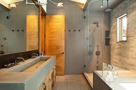 modern shower bathroom together with glass sliding shower door and