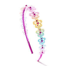 claires headbands kids glitter rainbow flower headband s ca