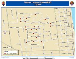 License Plate Map Police 25 License Plates Stolen From Cars In Neptune Beach
