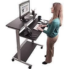 Computer Workstations Desk 40 Black Shelves Mobile Ergonomic Stand Up Desk