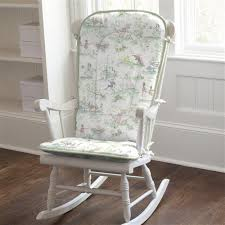 Nursery Rocking Chair Pads Nursery Rhyme Toile Rocking Chair Pad Carousel Designs