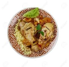 cuisine maghreb maghreb cuisine traditional moroccan apricot chicken stock photo