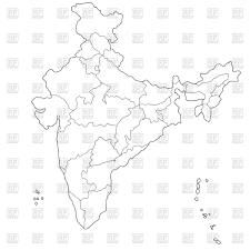 Map Of India With States by Outline Of Map Of Indian States Administrative Division Of India