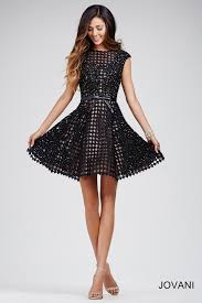 gorgeous cap sleeved fit and flare short dress with underlay
