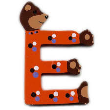 e bear wooden letter e handpainted wooden letter e made in u2026 flickr