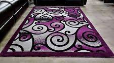 Purple And Black Area Rugs Purple Modern Area Rugs Ebay
