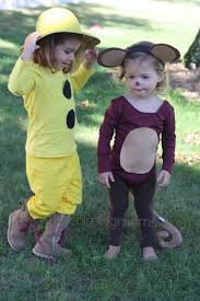 diy halloween costumes curious george u0026 the man with the yellow