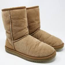 s ugg australia nubuck boots ugg australia chestnut signature s 5825 boots