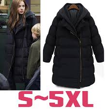 Plus Size Down Coats Plus Size Women Winter Down Coats Knitted Collar Hood Duck Down