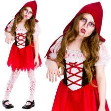 girls zombie undead kids halloween childrens horror fancy dress