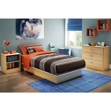 south shore libra twin size platform bed in natural maple 3113235c