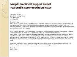 emotional service dog letter sample anxiety